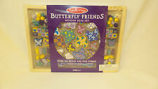 Melissa And Doug Butterfly Friends Wooden Bead Set Over 120 Beads 5 Cords