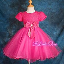 Flower Girl Wedding Pageant  Party Formal Occasion Tulle Dress Size 18M-7 178