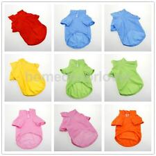 Puppy Apparel Dog Summer Pure Cotton Clothes Doggy Solid-colored Outfit 6 Color
