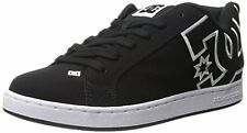 DC Shoes Court Graffik Womens Skate Leather Shoe Black/Black/White US Sizes