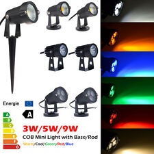 COB LED Outdoor Landscape Path Light Garden Fence Yard Road Flood Spot Lamp +Rod