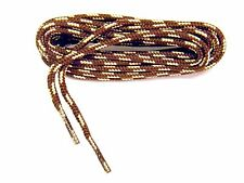 2 pair lot Heavy Duty bootlaces shoelaces Brown-Tan Round braided boot laces NEW