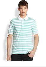 NWT Men's Burberry Brit Heather Stripe Polo Shirt