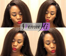 affordable natural Kinky Straight full/front lace wig 100% remy human hair wigs
