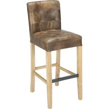 Aurelle Home Saxo Brown Leather Upholstered Bar Stool. Brand New