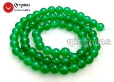 """SALE High quality small green 6mm Round jade gemstone beads strands 15""""-los651"""