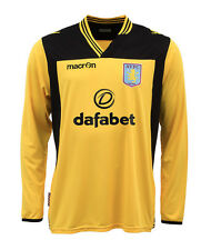 ASTON VILLA 2013/14 2XL,XL KEEPER MACRON L/S YELLOW FOOTBALL SOCCER SHIRT JERSEY