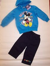 BNWT MICKEY MOUSE BOYS BLUE HOODIE TRACKSUITS  SIZE 1-4