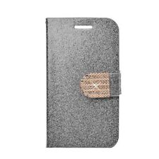 INSTEN Stand Leather Folio Book-Style Flip Phone Case Cover With Diamond For Sam