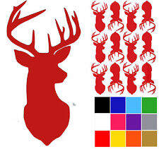 Stags Head Decals x 12 Wall Decals. Deer Head Stickers. Wall Tile Stickers.