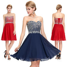 Beaded Short Mini Cocktail Party Dress Evening Formal Graduation Prom Ball Gown
