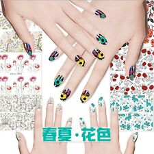 New Nail Care Art Sticker Water Transfer Stickers Flower Decals Tips Decoration