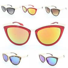 Womens Cat Eye Frame Sunglasses Gold Metal Top Ladies VTG Pin up Style