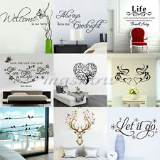 Removable Family DIY Art Vinyl Quote Wall Stickers Words Decal Mural Home Kids