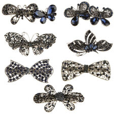 Vintage Women Fashion Crystal Rhinestone Butterfly Hair Barrette Clip Hairpin