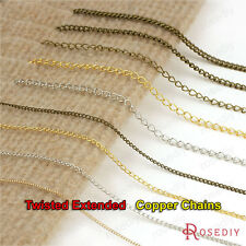 2 or 5 meters 1.2MM to 3.5MM Copper Twisted Extended Necklace Chains 23557