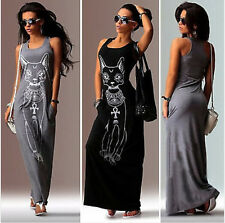 Sexy Women's Casual Summer Boho Long Maxi Evening Party Beach Dress Sundress L82