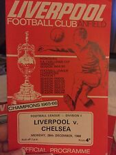 liverpool football programmes