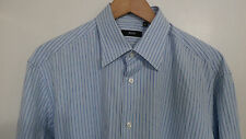HUGO BOSS blue white striped regular-fit shirt 16 34/35 44