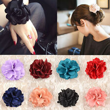1X Girl Hair Band Rope Elastic Rose Flower Ponytail Holder Scrunchie Accessories