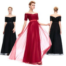 Off-Shoulder Long Evening Party Prom Formal Ball Gown Bridesmaid MAXI Dress NEW