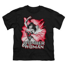 Justice League Of America Men's  Wonder Woman Red & Gray T-shirt Black