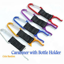 1/5PCS Carabiner Clip Water Bottle Holder Camping Hiking Snap Hook Keychain