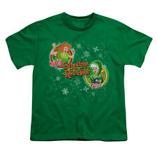 Grandma Got Run Over By A Reindeer Men's  Naughty Or Nice Youth T-shirt Green