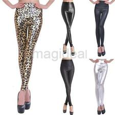 Sexy Women Slim Stretch Jeggings Skinny Faux Leather Tight Leggings Pencil Pants