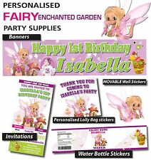 Personalised Fairy Enchanted Garden Birthday Party Decorations supplies