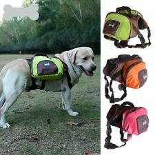 Portable Pet Dog Saddle Bag Backpack Carrier Outdoor Hiking Camping 3 Color S-XL