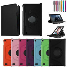 360 Rotating PU Leather Smart Case Cover For Amazon Kindle Fire7''/HD 8 10 2015