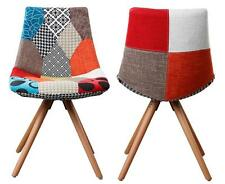 Set of 2 Modern Eames Style Colorful Side Chair Dining Room Chairs Wood Legs