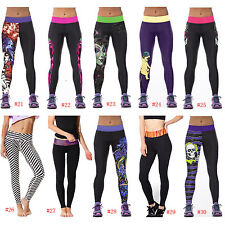 Women Sports Yoga Gym Jogging Training Skinny   Trousers Leggings Tiger Black