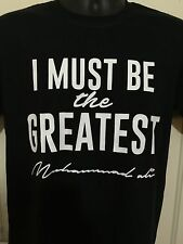 MUHAMMAD ALI Greatest  Boxing Box  Boxer Signature T Shirt Black White S - XXL