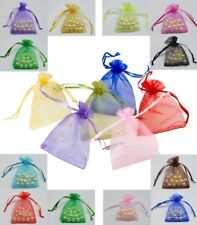 ORGANZA GIFT BAGS - PREMIUM POUCHES - 9cm x 7cm - JEWELLERY BAGS WEDDING FAVOURS