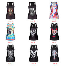 Womens Tees Blouses   Tops Stretch Vest Gothic Tank Corpse Sleeveless