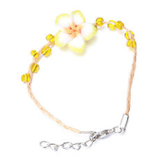 25pcs Wholesale Clay Flower Clover Clear Mini Bead Handmade Braided Bracelets D