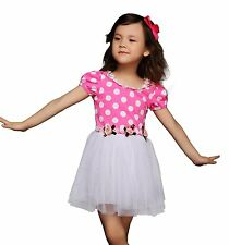 Baby Girl Princess Dress Polka Dots Tulle Birthday Party Dresses Communion Prom