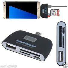 Micro USB 3 in 1 Memory Card Reader Adapter USB/TF/SD for Samsung Galaxy S7 Edge