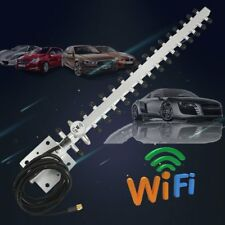 RP-SMA 2.4GHz 25 DBi Wireless WLAN WiFi Antenna For Yagi Modem PCI Card Route P6