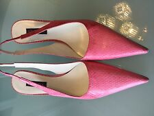 Woman's shoes ESCADA pink leather heels vintage