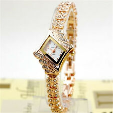 1pcs Fashion Women Alloy Crystal Quartz Rhombus Bracelet Bangle Wrist Watch  Hot