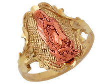 10k / 14k Two-Tone Gold Dazzling Religious Virgin Mary Ring