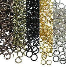 Wholesale Multicolor Split Jump Rings Open Connector Jewelry Finding DIY 7Sizes