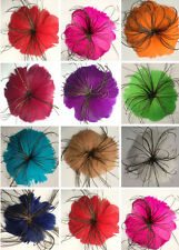 Wholesale 1 pcs Beautiful feather flower for headdress ,Select color