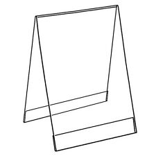 BOX OF 5 COUNTERTOP DOUBLE SIDED ANGLED CLEAR SLANT BACK PRINT HOLDER A5 A6 A7
