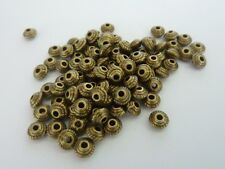 120 pce Antique Bronze Saucer Spacer Beads 5mm x 3mm