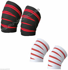 Weight Lifting Power Lifting Knee Wraps New Supports Gym Training Straps W/R
