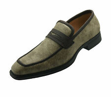 NEW Men's Leather Brown Casual Shoes Slip On Dress Loafers Wedding Prom Formal